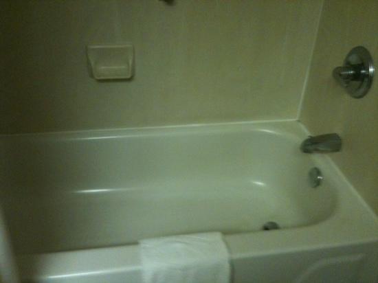 Hampton Inn Brookhaven: A real bathtub!