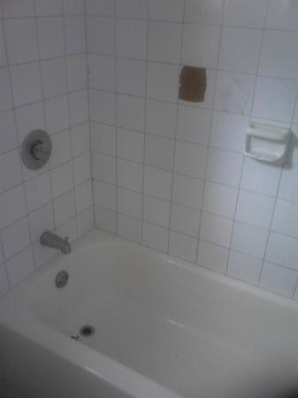 Puerto Plata Village Resort: La ducha requiere mantenimiento urgente, no agua caliente, grifo y paredes en mal estado
