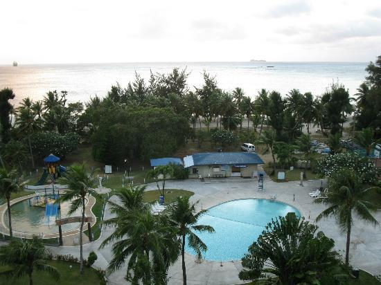 Fiesta Resort & Spa Saipan: View of resort grounds from Ocean view South Wing