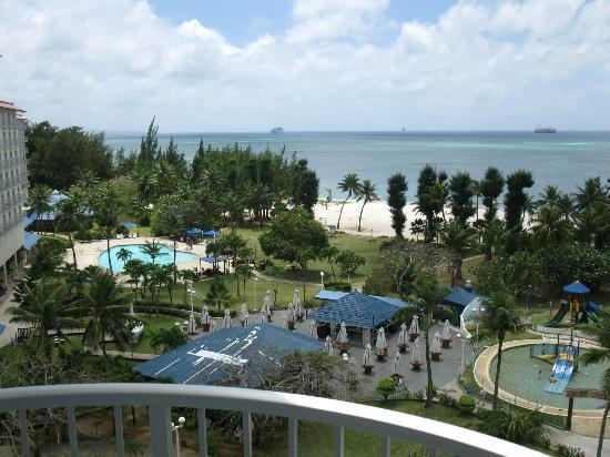 Fiesta Resort & Spa Saipan: View of resort grounds from Ocean view South Wing #2