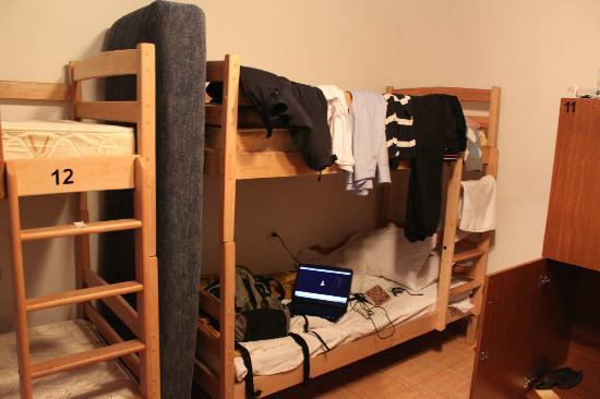Yerevan Hostel: dorm bed with my stuff everywhere