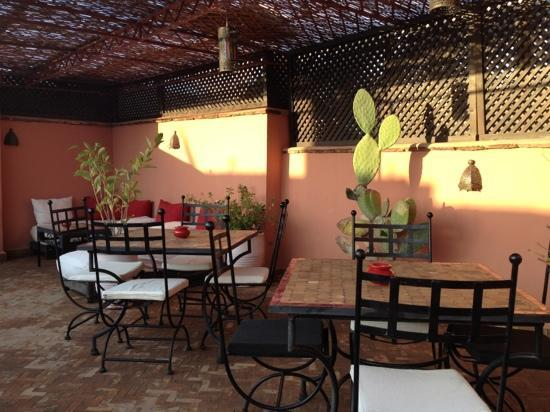 Riad Tizgui: la terrasse