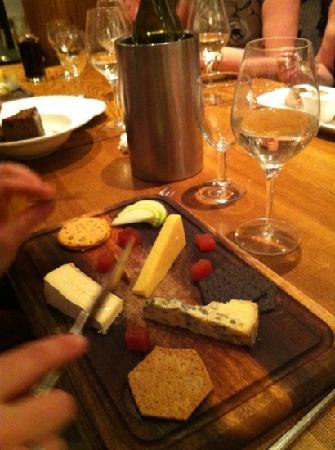 Queens Head Riverside: my wifes cheese board, very good