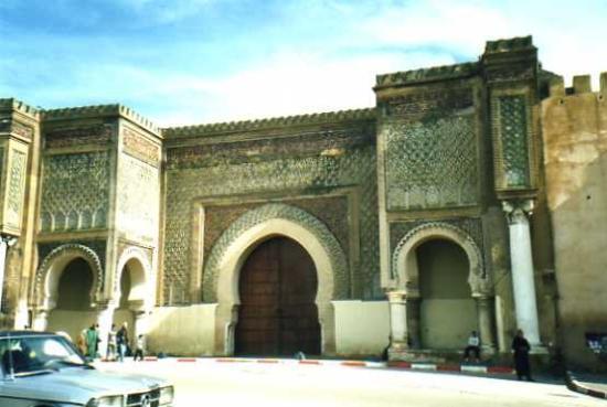 Medina de Mequinez: Medina di Meknes: porta Bab El-Mansour