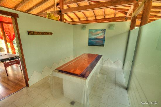 Iguana Lodge: Spa wetroom for tropical scrubs