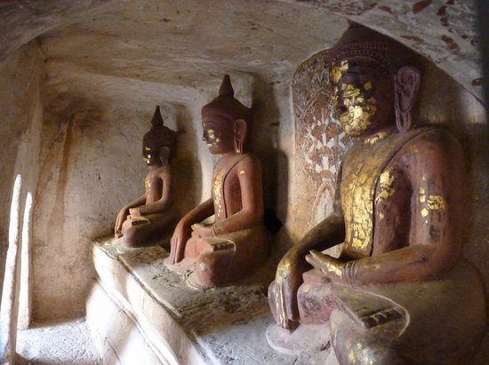 Monywa, Burma: bouddha labyrinthe