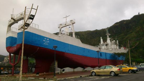 Bisha Harbour Live Seafood Market: Iconic Ship