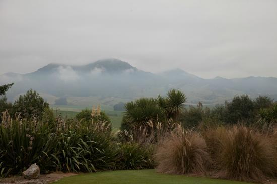 Hokonui Bed and Breakfast: Fog, clearing away