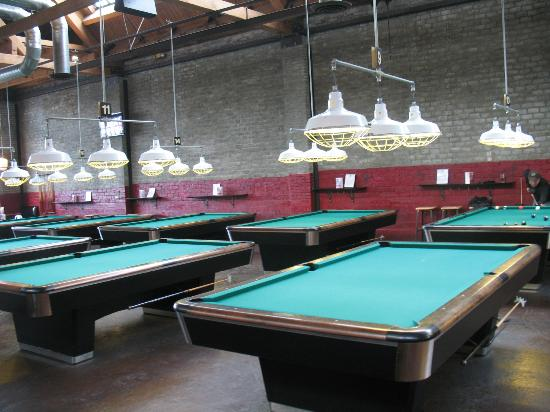 Pool Tables Picture Of The Garage Seattle TripAdvisor - Pool table in garage
