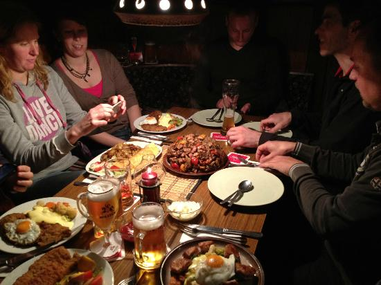 Bergklause: Food in plenty, and good.