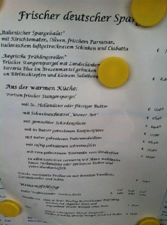 Gasthof Neuwirt: Spargelkarte