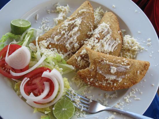 Bahía de Puerto Marqués: Shrimp Empanadas YUMMY !!!