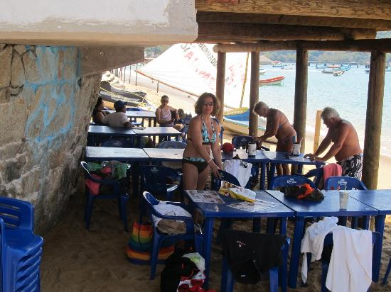 Bahia de Puerto Marques: under the pool on the beach!!!