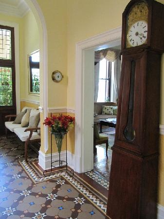 Carmichael Guesthouse: Entrance hall with our original clock