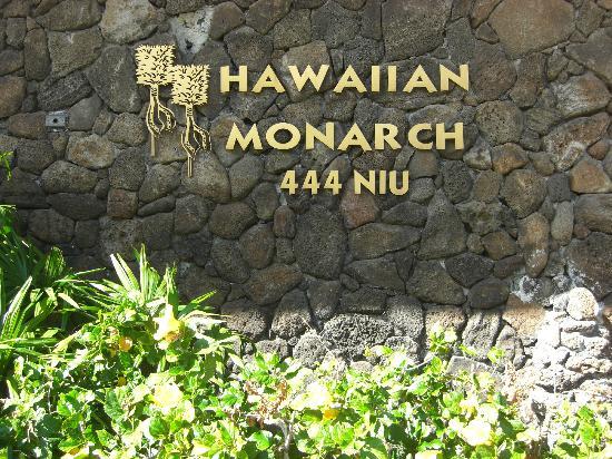 Hawaiian Monarch Hotel: 看板