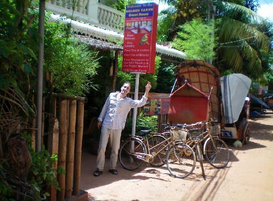 Golden TaKeo Guesthouse: Vélos gratuits à disposition pour aller visiter les temples tranquillement