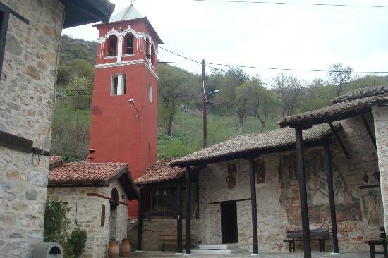 Кастория, Греция: Tower of Panagia Mavriotissa monastery, 12 century