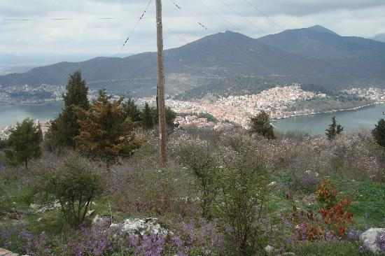View of Kastoria from the top of the mountain