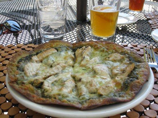 Mezza Luna: Chicken Pizza with Blue Moon Beer