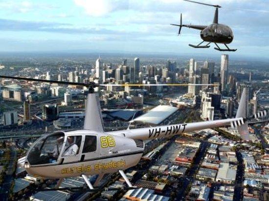 Private 30Minute Scenic Helicopter Flight Of Melbourne Essendon Australia