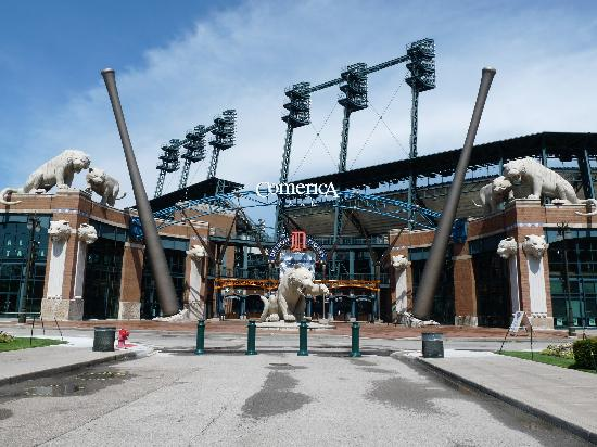 The entrance to Comerica Park!