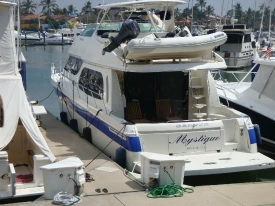 Mystique Yacht Luxury Charters: The Mystique at the Marina