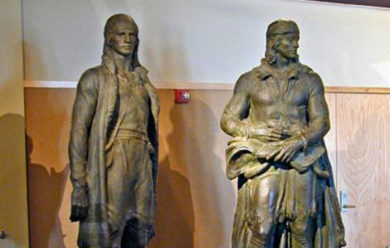Dakota Discovery Museum: Lewis & Clark, sculpted by James Earle Frasier