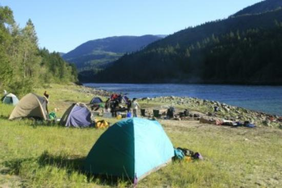 Fraser River Rafting: Camping along the Fraser