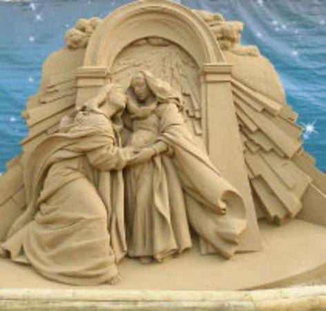 Sand Nativity Photo