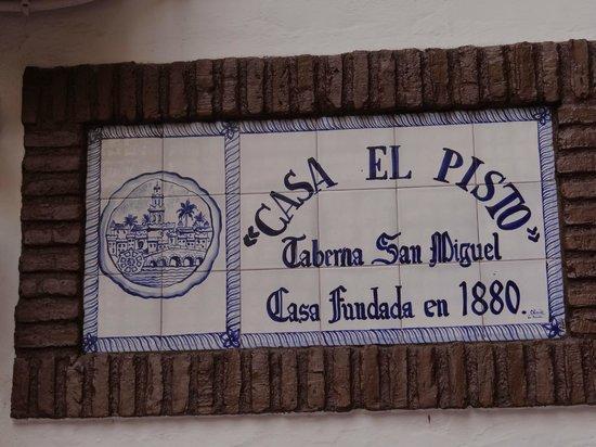 Taberna San Miguel Casa El Pisto : fachada