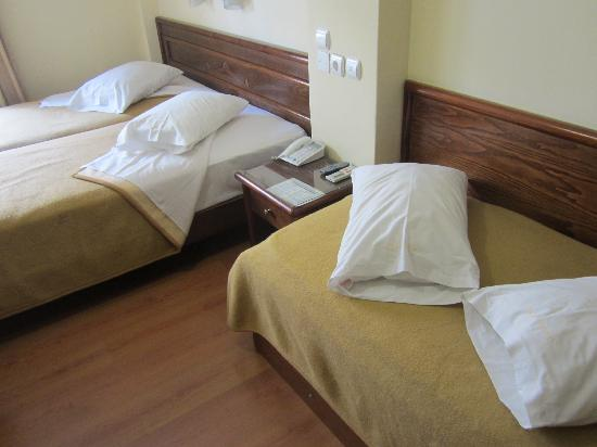 Omiros Hotel : 2 singles and 1 fold out bed