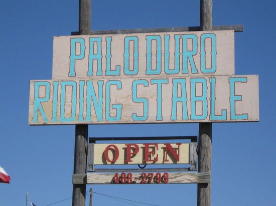 Palo Duro Riding Stables : Old sign