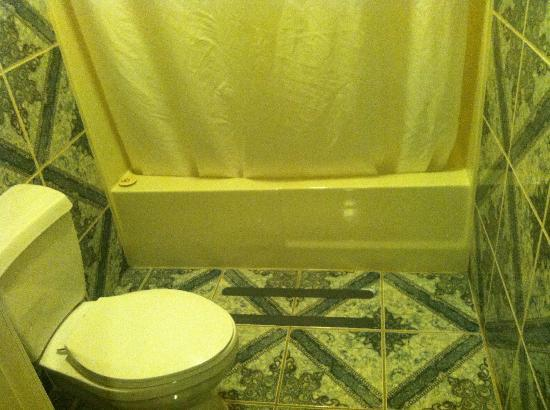 Best Western Harbour Inn & Suites: Bathroom (note gripper strips on tile floor for securing bathmat)