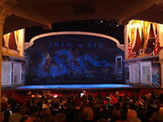 Ford's Theatre: Our view of the stage