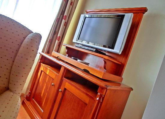 Suites Alba Resort & Spa: Flat-Screen-TV im Wohnzimmer
