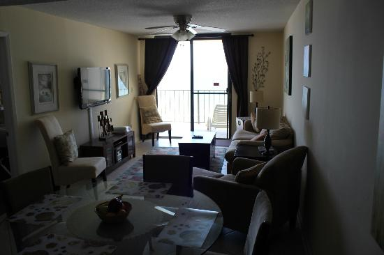 Phoenix Condominiums: Living room - comfy couch - nice and sunny