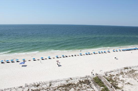 Phoenix Condominiums: View of beach from balcony