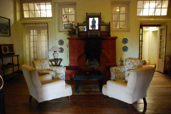 Lymond House: Living Room with Fire Place