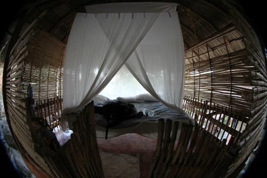 Casa de las Piedras: one of the 2 bedrooms at bamboo treehouse