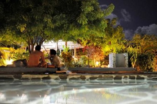 Marine Holiday House: piscina di notte