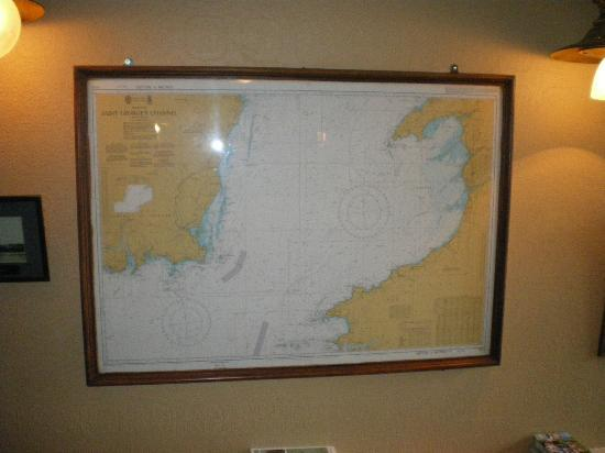 The Munster: Map of the Souteast on the wall