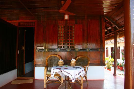 Thevercad Alleppey Homestay: View just outside the room