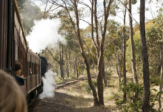 Victorian Goldfields Railway: On the way to Muckleford