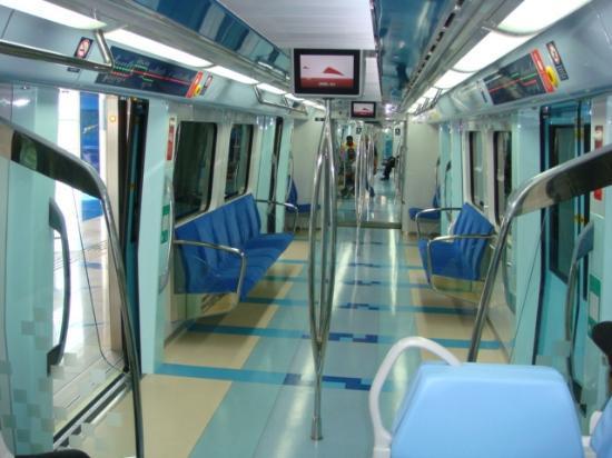 Very posh modern inside the metro carriage picture of dubai metro dubai tripadvisor - Carrage metro ...