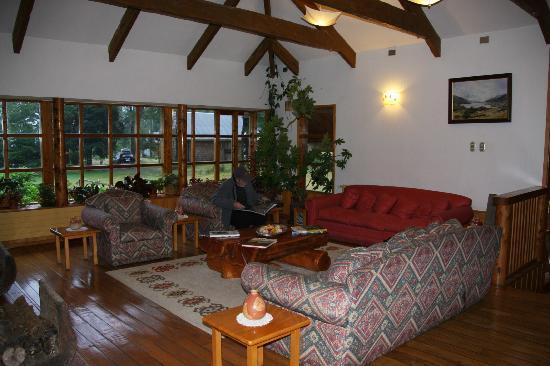 El Pangue Lodge : salon-coin repos
