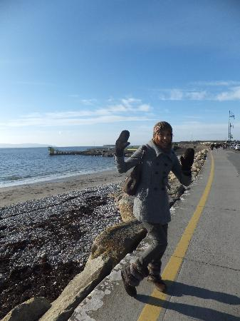 Salthill Promenade: Me walking on the prom