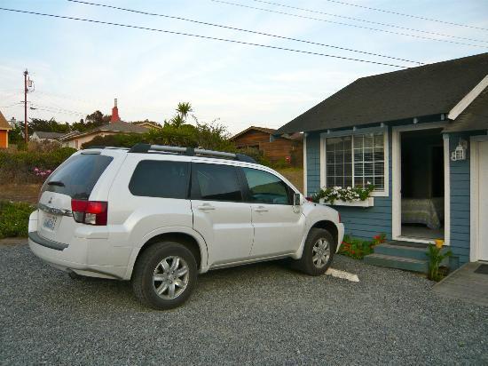 Bodega Harbor Inn: Unser Zimmer von außen