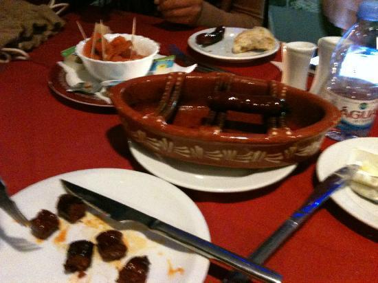 restaurante  A BROA : roasted chorizo
