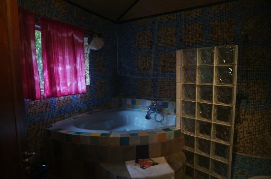 Le Triskell: il bagno della camera azzurra