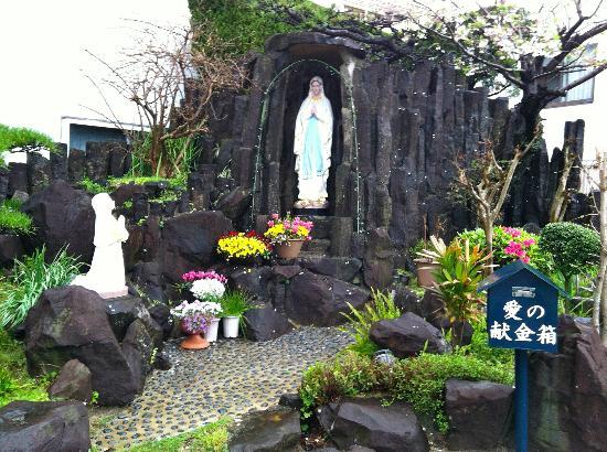 Miuracho Catholic Church: Grotto